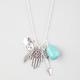 FULL TILT Hamsa/Arrow/Stone Necklace