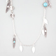 FULL TILT Feather/Turquoise/Disc Station Necklace