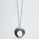 FULL TILT Heart Clock Necklace