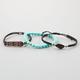 FULL TILT 3 Pack Turquoise/Stone/Bar Bracelets