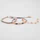 FULL TILT 3 Pack Chain/Disc/Bead Bracelets