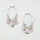 FULL TILT Chain Teardrop Hoop Earrings