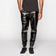 ELWOOD Mens Faux Leather Jogger Pants