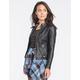 FULL TILT Marled Hood Womens Faux Leather Jacket