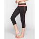 FULL TILT SPORT Stripe Inset Womens Capri Leggings