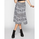 FULL TILT Ethnic Print Midi Skirt