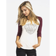VANS Shield Me Womens Baseball Tee