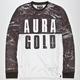 AURA GOLD Marble Mens T-Shirt