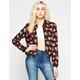 ASHLEY Floral Print Womens Baseball Jacket