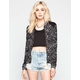 ASHLEY Abstract Print Womens Baseball Jacket