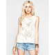 FULL TILT Daisy Skull Chief Womens Muscle Tank