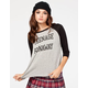 FULL TILT Teenage Runaway Womens Baseball Tee