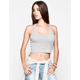 FULL TILT Womens Ribbed Racerback Crop Tank