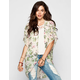 FULL TILT Vintage Floral Print Womens Kimono