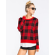 WOVEN HEART Plaid Womens Sweater