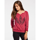 FULL TILT Raw Edge Womens Sweatshirt