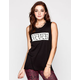 FULL TILT Never Again Womens Muscle Tank