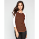 RVCA Ashley Smith Stevie Womens Baseball Tee