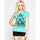 FULL TILT Ethnic Triangle Womens Burnout Tee