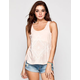 FULL TILT Mandala Womens Lace Up Tank
