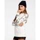 CHLOE K Watercolor Floral Womens Sweatshirt