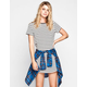 FULL TILT Striped T-Shirt Dress