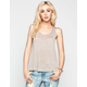 FULL TILT Hachi Knit Deep Scoop Back Womens Tank