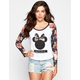 NEFF Disney Collection Floral Bow Womens Raglan Tee