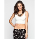 LILY WHITE Womens Textured Crop Tank