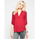 FULL TILT Womens Mandarin Collar Shirt