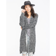 POOF EXCELLENCE Marled Shaker Womens Maxi Cardigan