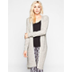 POOF EXCELLENCE Marled Shaker Stitch Maxi Cardigan