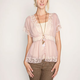 FULL TILT Lace Trim Womens Top