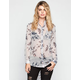 LOTTIE & HOLLY Floral Print Womens Chiffon Shirt
