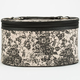 Two Tone Floral Print Cosmetic Case