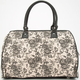 Two Tone Floral Print Duffle Bag