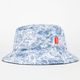 ASPHALT YACHT CLUB Acid Wash Denim Mens Bucket Hat