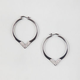 FULL TILT Chevron Rhinestone Hoop Earrings