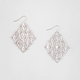 FULL TILT Rhinestone Floral Kite Dangle Earrings
