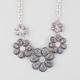 FULL TILT 5 Flower Glitter Necklace
