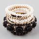 FULL TILT 6 Pack Rose/Pearl Stretch Bracelets