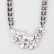 FULL TILT Floral Stone Chain Necklace