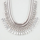 FULL TILT Rhinestone Spike/Chain Collar Necklace