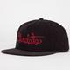 CHOCOLATE Script Corduroy Mens Strapback Hat