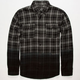 BLUE CROWN Dip Dye Mens Flannel Shirt