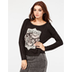 H.I.P. Elephant Womens Drop Shoulder Top