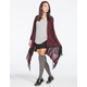 FULL TILT Tapestry Fringe Womens Wrap Sweater