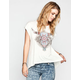 FULL TILT Skull Womens Hi Low Tee