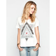 FULL TILT Triangles Womens Drop Shoulder Tee