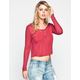 MIMI CHICA Womens Thermal Crop Top